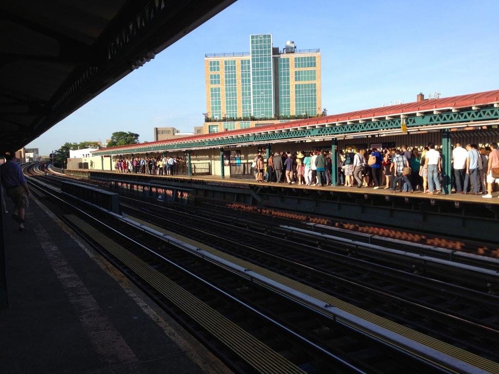 Rush hour in Astoria