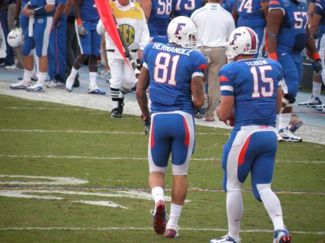 Tebow and Hernandez circa 2010