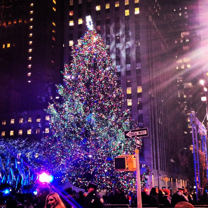The Rockefeller Christmas Tree Lighting. Image copyright Carla Ramirez